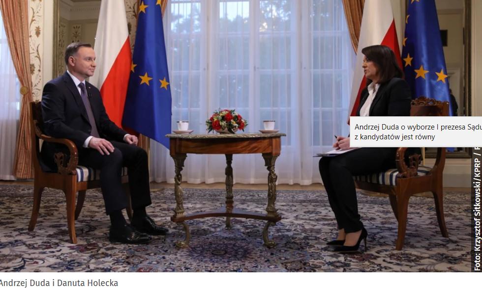 Wywiad z Prezydentem Andrzejem Dudą